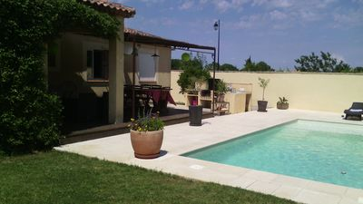 Photo for House with swimming pool, ground of ball, without opposite close to the sea