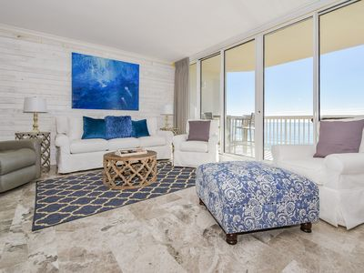Photo for Spacious End Unit with Beach and Pool Views! TWO KING BEDS! Free Beach Service!