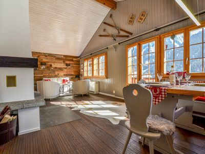 Photo for Chalet La Neuf a recently completely renovated chalet, sunny location.
