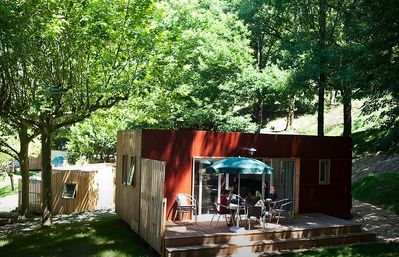 Photo for Camping Huttopia Bourg Saint Maurice *** - Chalet Montana 6 People