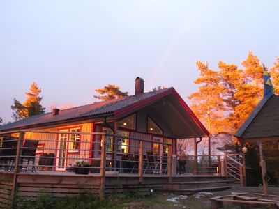Photo for Amazing high-end Westcoast Cottage w / forest / nature / lake & close to archipelago
