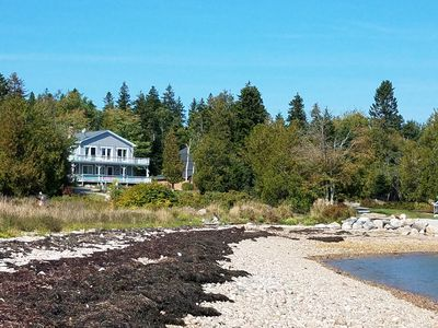 Photo for 'Decked Out' Downeast, A spacious, comfortable oceanfront house