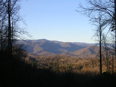 Smokey Mountain National Park views from deck.