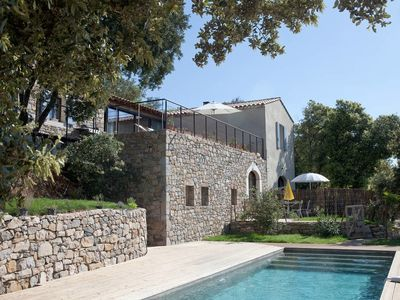 Photo for property 15 pers stone lime wood salt pool, exceptional view