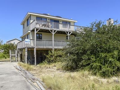 Photo for Private pool, hot tub, adorable house in Duck. 850 ft to beach!  Pet Friendly!