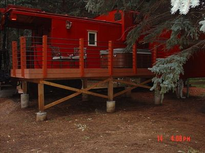 Photo for Caboose Suite sleeps 2-3 (queen bed and single hide-a-bed).