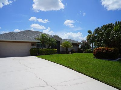 Photo for Blue Oasis 3b/2ba Elect Heated Pool, Gulf Access Canal, WiFi, Boat Dock, 2 kayaks, 2 bicycles