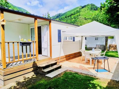 Photo for Mobile home 4/6 people in the heart of the Hautes Pyrénées in a summer and winter campsite