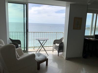 Photo for Sea front line: 100 sqm duplex  in a small condominium. 3 bedrooms. Biarritz