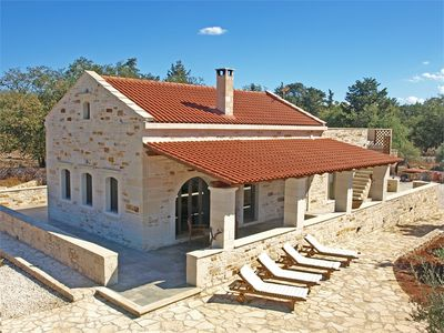 Photo for Traditional stone house embedded in Olive Grove and Oak Forest