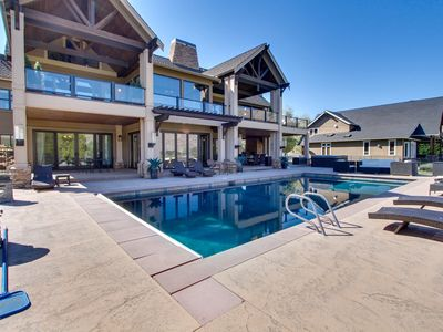 Photo for Lakefront home with private pool, hot tub, wet bar, and amazing views!