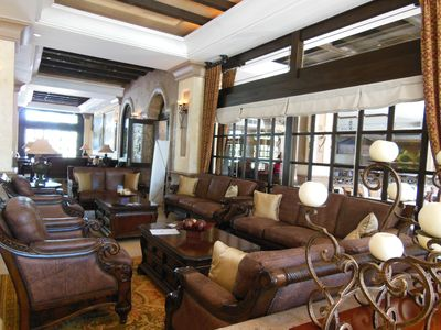 Lounge area  for guests in Reception Hall- Wifi most places in the resort