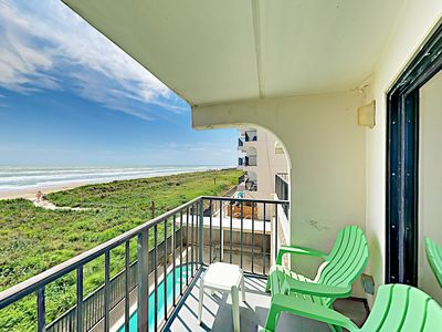 Balcony - Welcome to South Padre Island! This condo is professionally managed by TurnKey Vacation Rentals.