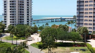 Another view from the lanai the drawbridge and gulf of M!