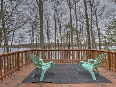 Photo for Secluded, Lakefront Hawley House w/ Private Dock!