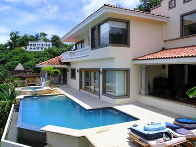 Photo for Beautiful Villa for 4-16 people, with beach access & wonderful ocean views!