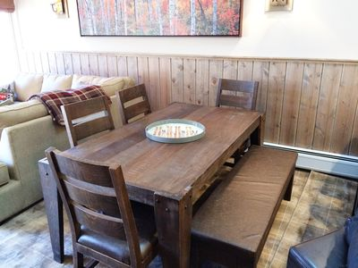 Comfortable Dining plus 4 more seats at the kitchen Island