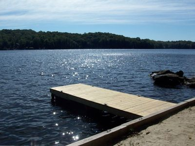 Photo for Beautiful Furnished Lake Front 3 Level House at 'the Hideout'