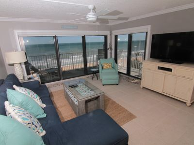Photo for Breezy Retreat, Direct Ocean Front 2/2, Beachy Warm and Fun! No-Drive Beach!
