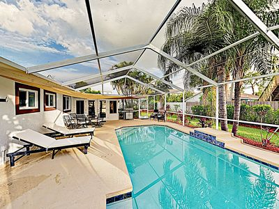 Photo for New Listing! Charming Getaway by the Beach w/ Screened Pool & Sunroom