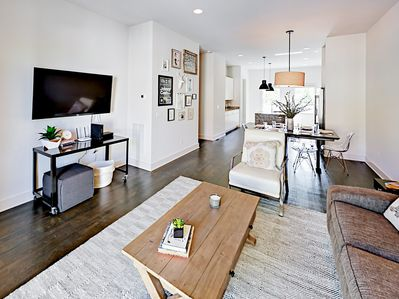 Living Area - Welcome to Nashville! This modern townhouse is professionally managed by TurnKey Vacation Rentals.