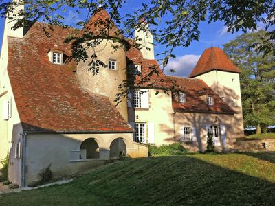 Photo for Charming and private castle on four hectares, with river, sun terrace and views