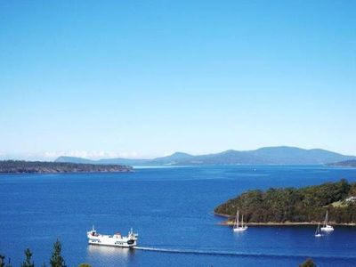 Photo for Bruny Vista Cabin, waterfront property with magnificent views of Bruny Island