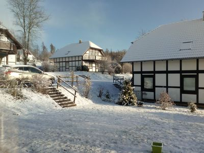 Photo for Kellerwald Edersee Sauerland 6 to 8 P. Luxe two-family holiday home