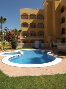 Photo for Wonderful terrace appartment seaview walk to shops and bars near 3 golf courses