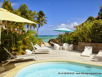 Photo for Luxury villa in Saint Francois area, pool and spa 8-10 people