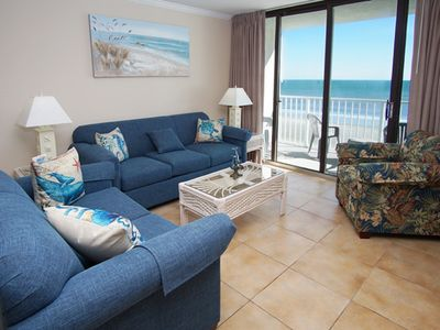 Photo for Sands Beach Club II #525, Lovely 2 BR Ocean Front Condo with Indoor/Outdoor Swimming Pool, Hot Tub and Kiddie Pool