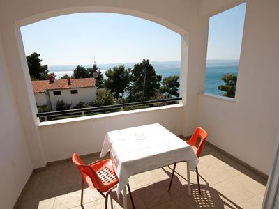 Photo for Studio flat with terrace and sea view Medići (Omiš) (AS-1046-d)