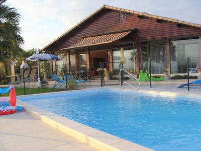 Photo for Nice villa *** with private heated pool, in Chalosse, fenced park.