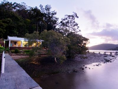 Photo for MACKYS . arrive by boat . HAWKESBURY RIVER .  Waterfront   Kayaks. Private Jetty