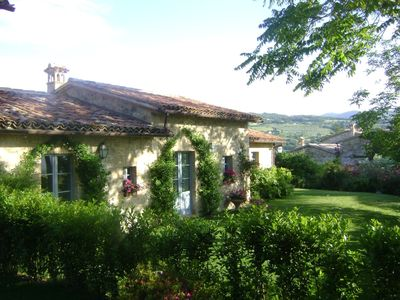 Photo for Villa near Todi with swimming pool and tennis court
