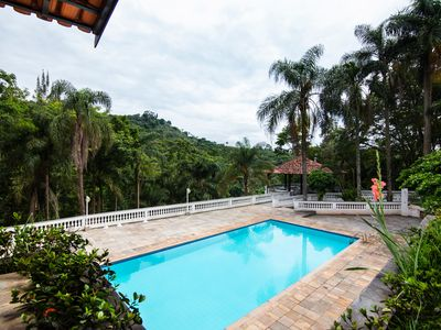 Photo for Site with complete leisure. Swimming pool, saunas, court, ecological trail. Next to SP