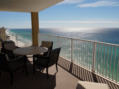 Photo for Gulf Front TOP FLOOR END UNIT! Quite West End Near Pier Park! FREE BEACH SRVC