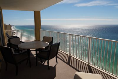 Balcony View - Corner unit with expanded balcony views of the Gulf of Mexico.