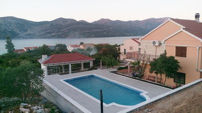 Photo for Two bedroom apartment with terrace Kneža, Korčula (A-9269-b)