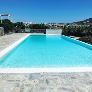 Photo for Cycladic villa with infinity pool and stunning sea views