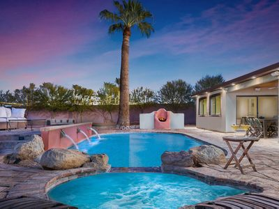 Photo for Scottsdale central location, upscale furnishings, private pool, pool spa, bocce!