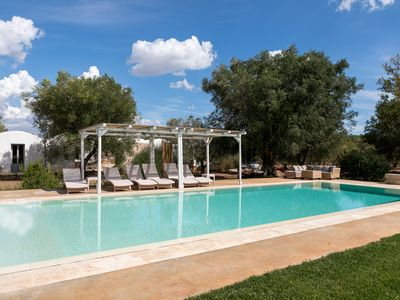 Photo for Typical villa of the Apulian countryside - olive grove and huge pool