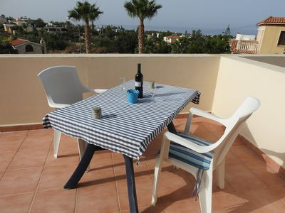 Photo for LOVELY APARTMENT WITH LARGE BALCONY, SEA VIEWS & AMAZING SUNSETS. FREE WIFI.