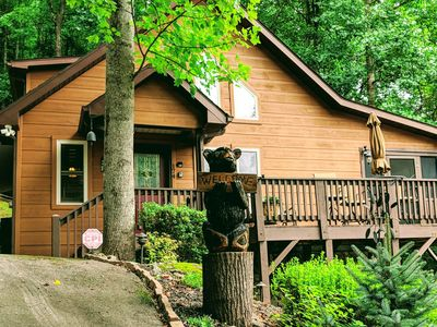 Photo for Black Bear Cabin, Beautiful Inside & Out, Nearby Creek, Gated, WIFI, Cable, HBO