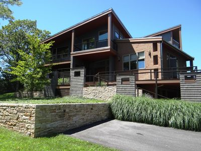 Photo for Contemporary house with ocean view, 5 bedroom, 4 baths in Falmouth, Cape Cod