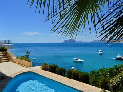 Photo for Villa Moraira,Portet, right above the sea,spectacular view,direct access to sea