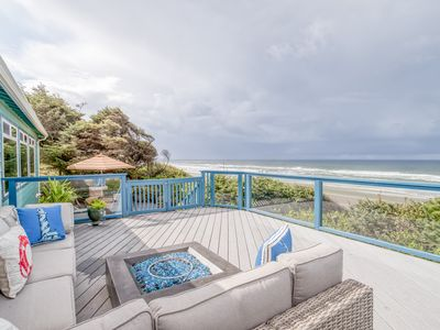 Photo for Private, Updated Oceanfront Charmer With Panoramic Views Has Extensive Outdoor L