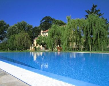 The swimming pool for a summer holiday
