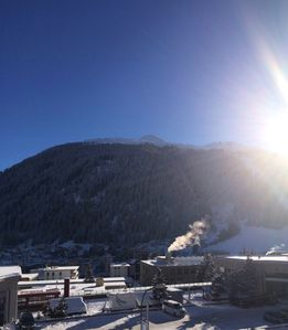 Photo for Comfortable apartment in the center of Davos, walking distance to the ski lift, panoramic views