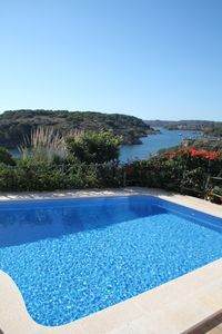 the swimming-pool and the beautiful view
